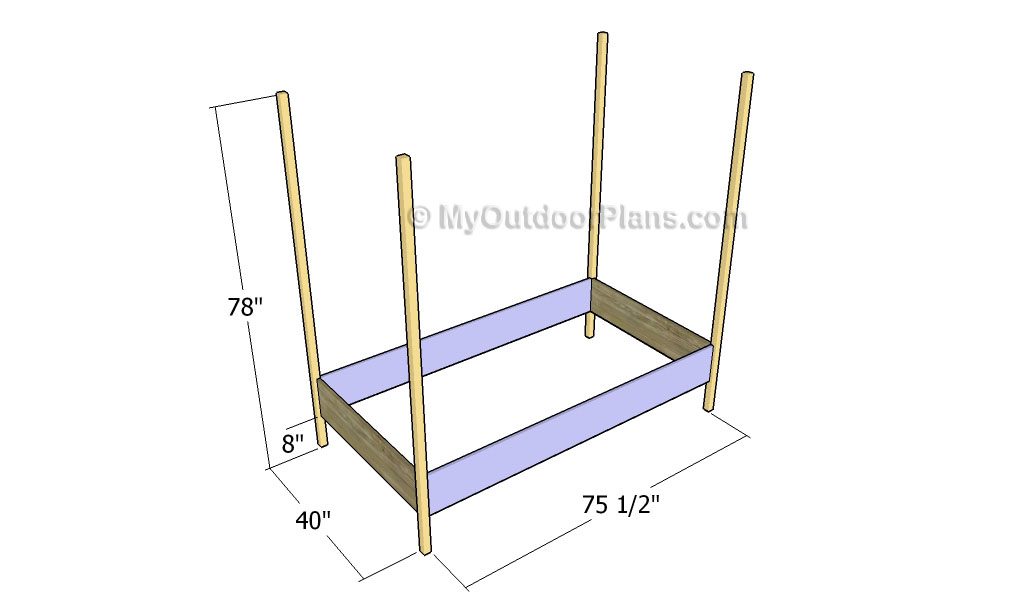 Bed Canopy Plans | Free Outdoor Plans - DIY Shed, Wooden Playhouse ...