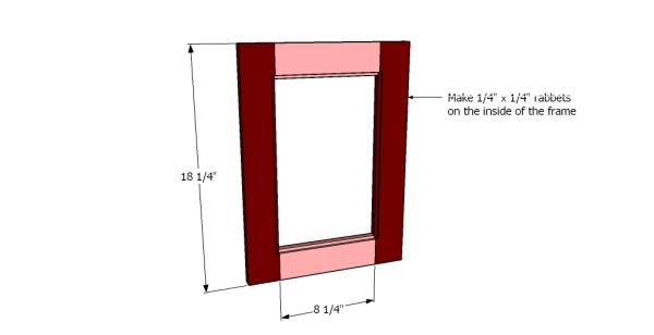 Building the frame of the door