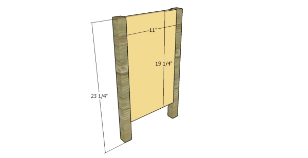 Building the sides of the nightstand
