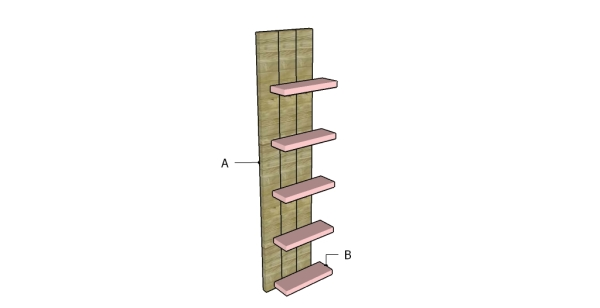 Building wall shelves