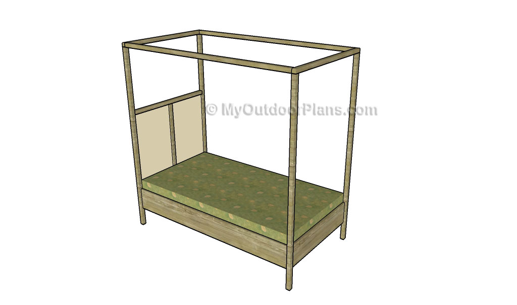 How to build a dog bed myoutdoorplans free woodworking for Diy platform canopy bed