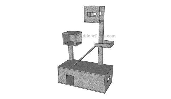Cat condo plans myoutdoorplans free woodworking plans for Condo plans free