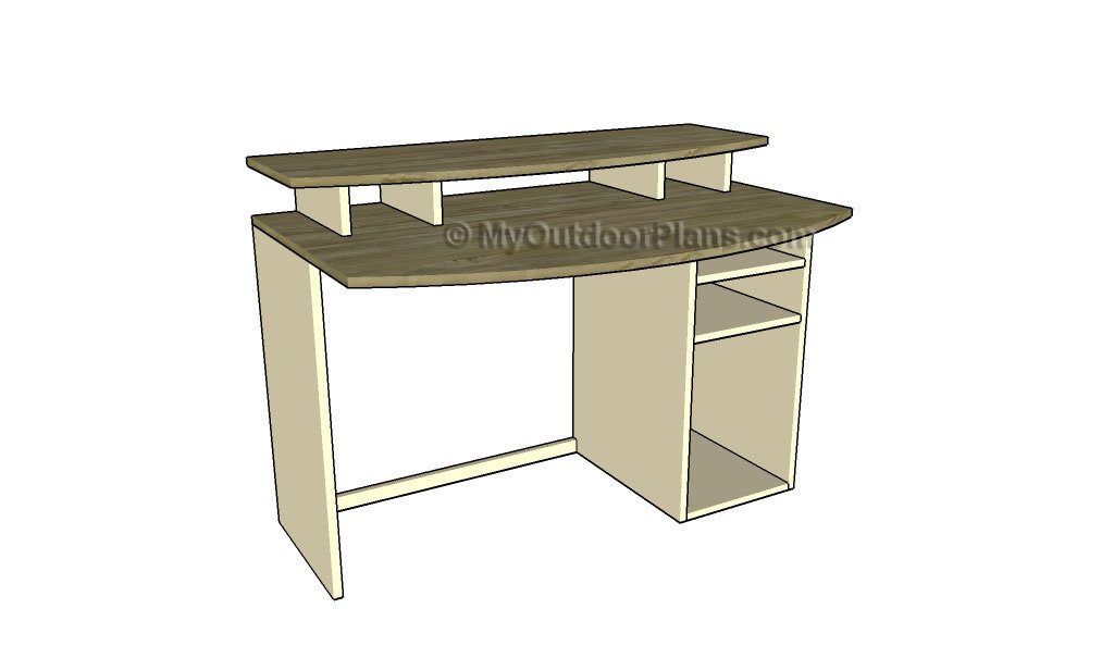 Computer Desk Plans | Free Outdoor Plans - DIY Shed, Wooden Playhouse