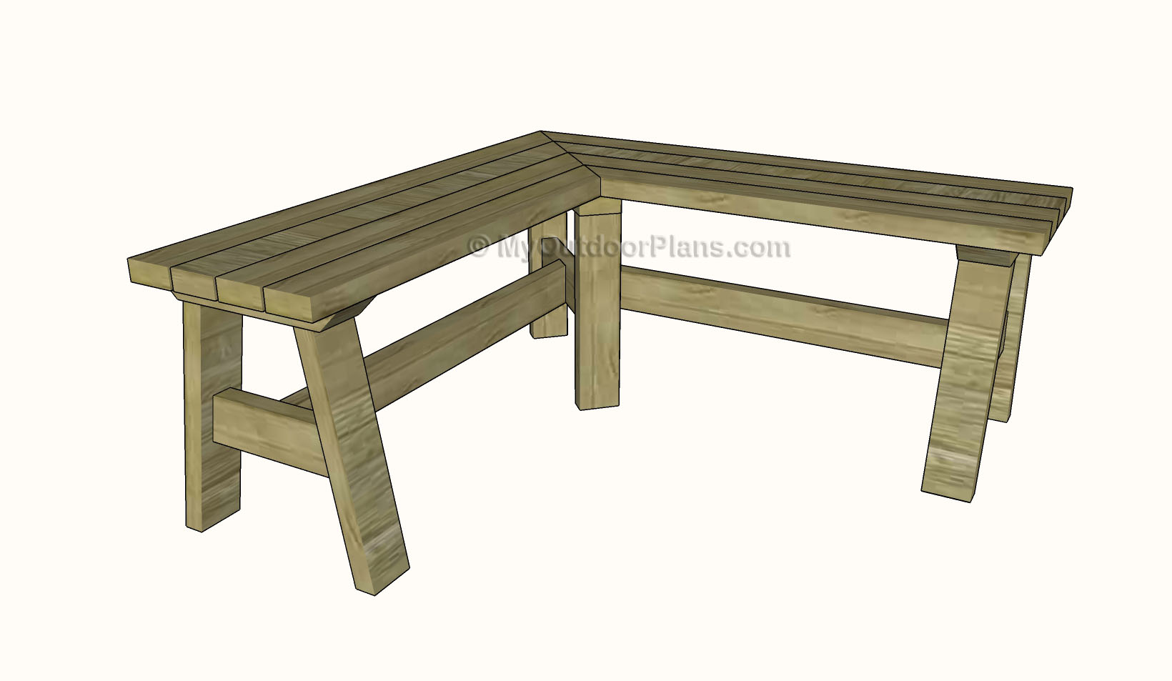Corner Bench Plans | MyOutdoorPlans | Free Woodworking Plans and ...
