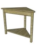Corner Table Plans