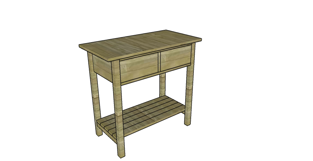 Farmhouse nightstand plans myoutdoorplans free for Farm table woodworking plans