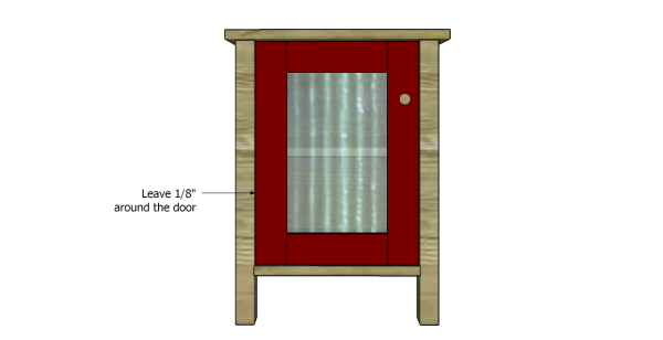 Fit the door into place