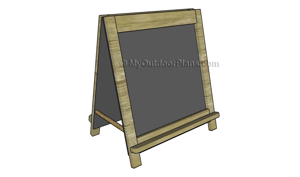 Folding Chalkboard Easel Plans