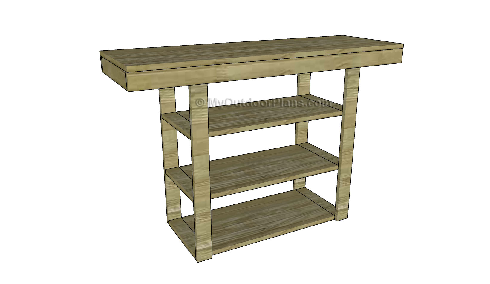 Console Table Woodworking ~ How to build a console table free outdoor plans diy
