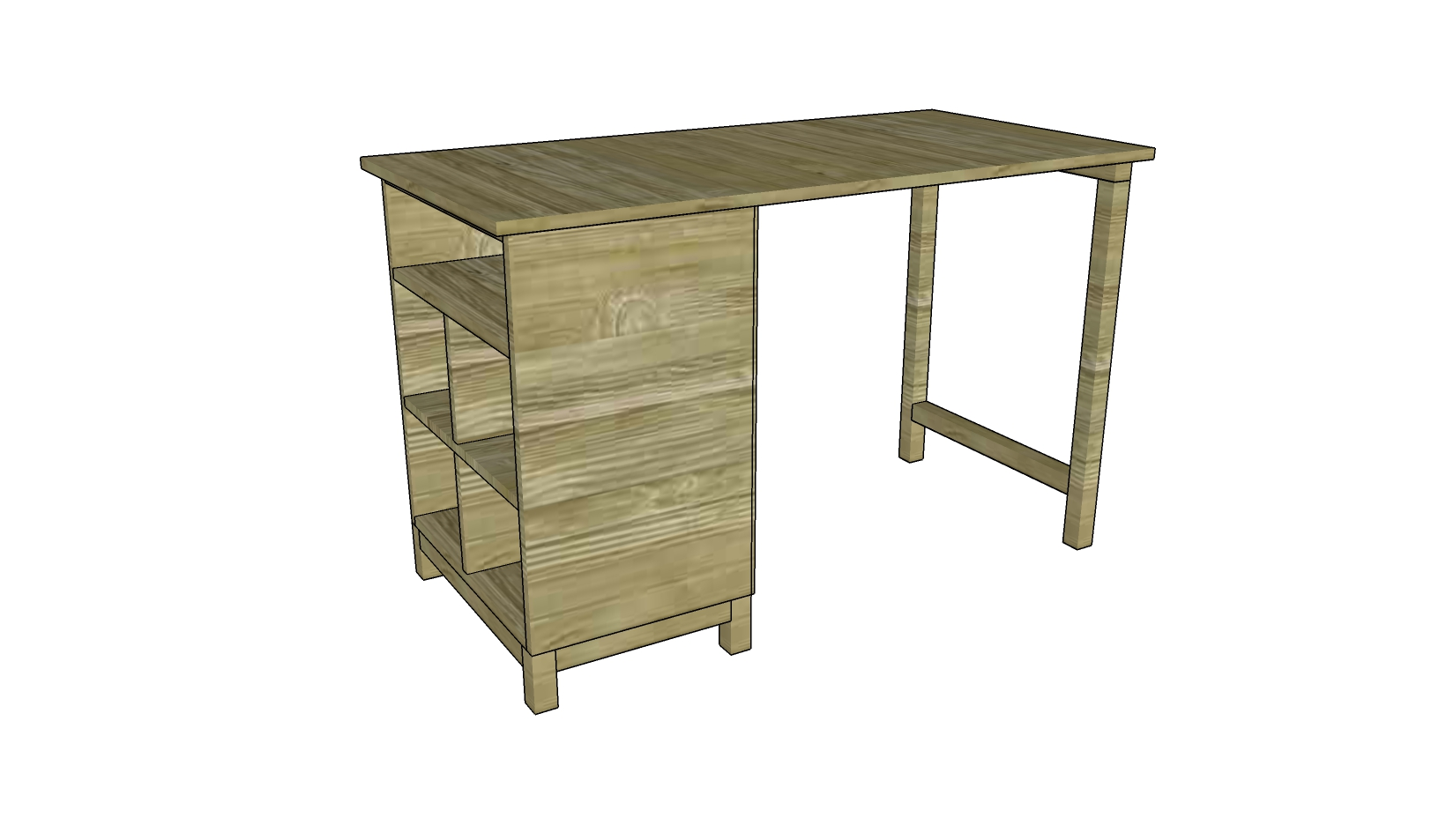 How to Build a Desk | Free Outdoor Plans - DIY Shed, Wooden Playhouse ...
