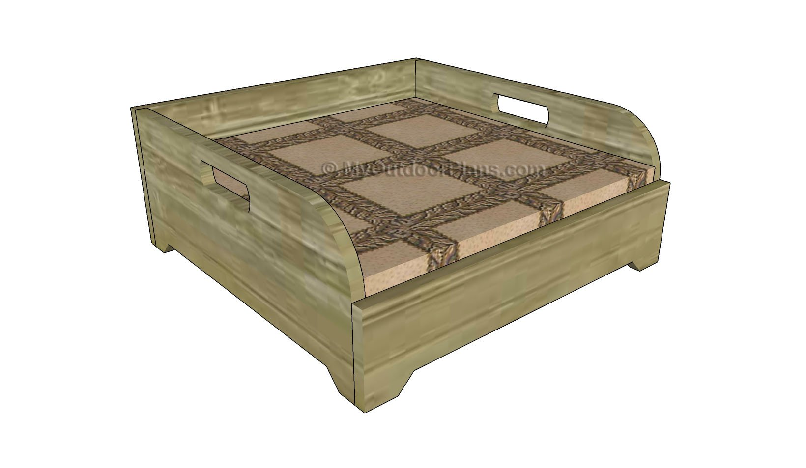 How to Build a Dog Bed | Free Outdoor Plans - DIY Shed, Wooden ...