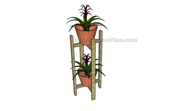 Indoor plant stand plans myoutdoorplans free woodworking plans and projects diy shed - Ladder plant stand plans free ...