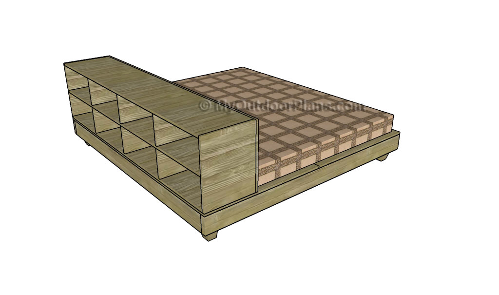 Platform Storage Bed Plans | Free Outdoor Plans - DIY Shed, Wooden ...