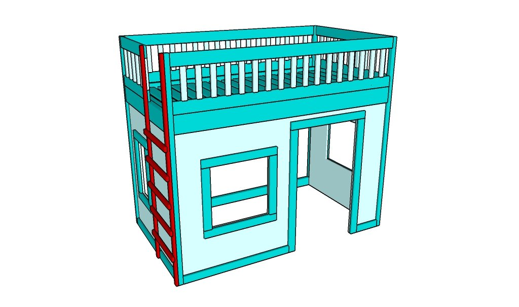 Playhouse Loft Bed Plans