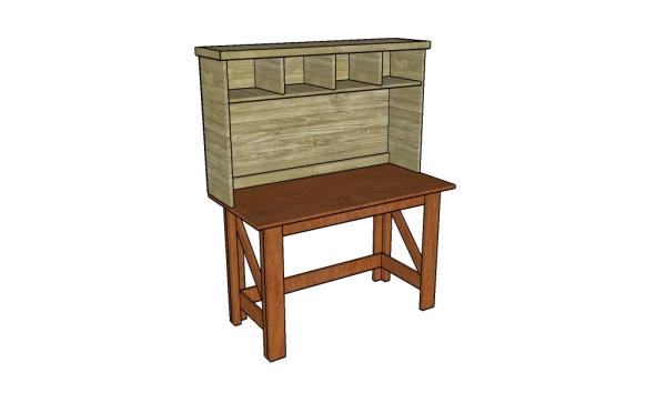 Simple desk hutch plans