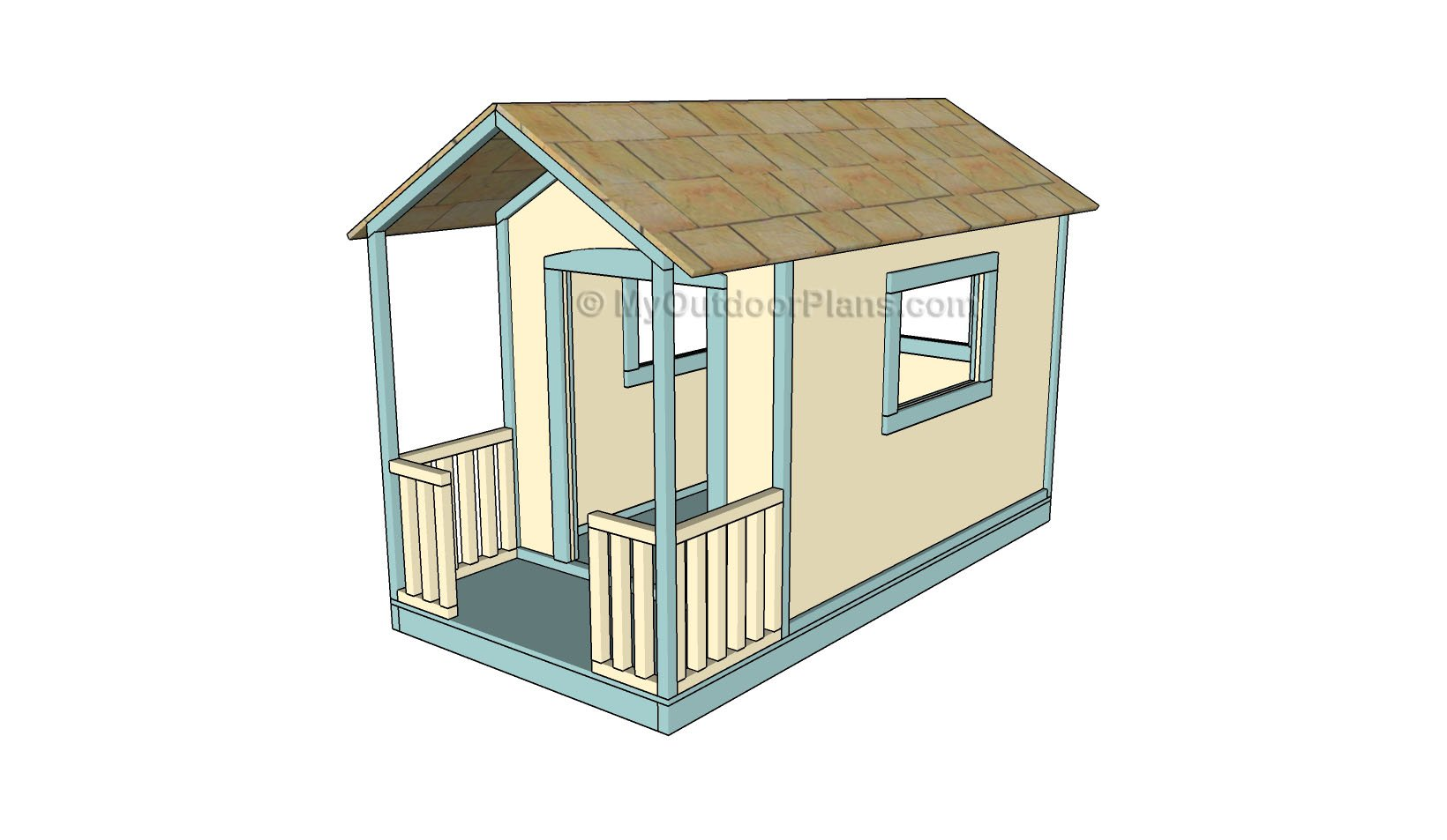 Kids playhouse plans myoutdoorplans free woodworking for Simple outdoor playhouse plans