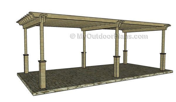 12x24 free pergola plans myoutdoorplans free woodworking plans and projects diy shed. Black Bedroom Furniture Sets. Home Design Ideas