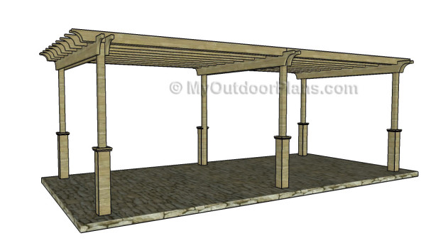 12x24 Free Pergola Plans - 12x24 Free Pergola Plans MyOutdoorPlans Free Woodworking Plans