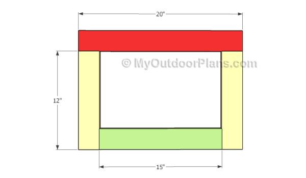 Assembling the window frame