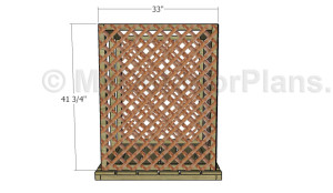 Attaching the side lattice panels