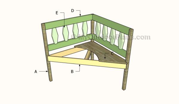 Building a corner bench