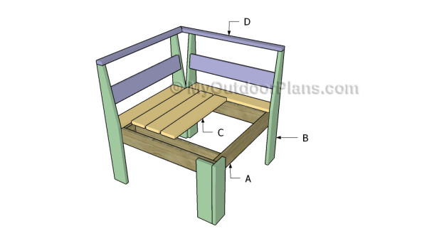 Building a corner sectional chair