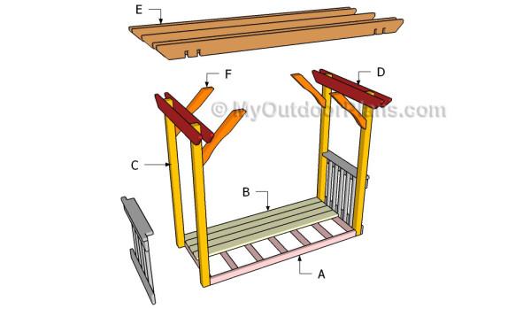 Building an arbor swing