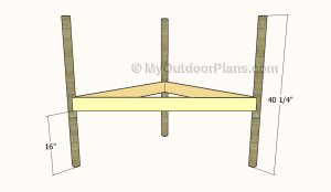 Building the frame of the corner bench