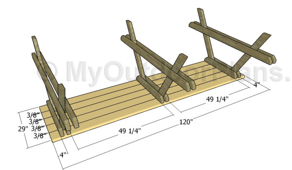 10' picnic table plans | MyOutdoorPlans | Free Woodworking ...