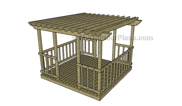 Deck Pergola Plans - Deck Pergola Plans MyOutdoorPlans Free Woodworking Plans And
