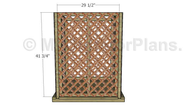 Fitting the door lattice panel