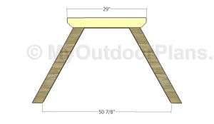 Fitting the tabletop supports