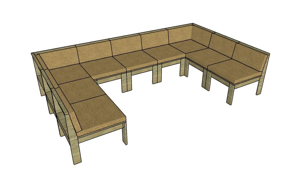 Outdoor sectional sofa plans | MyOutdoorPlans | Free Woodworking ...