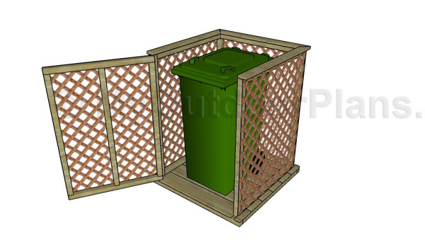 Trash can enclosure plans