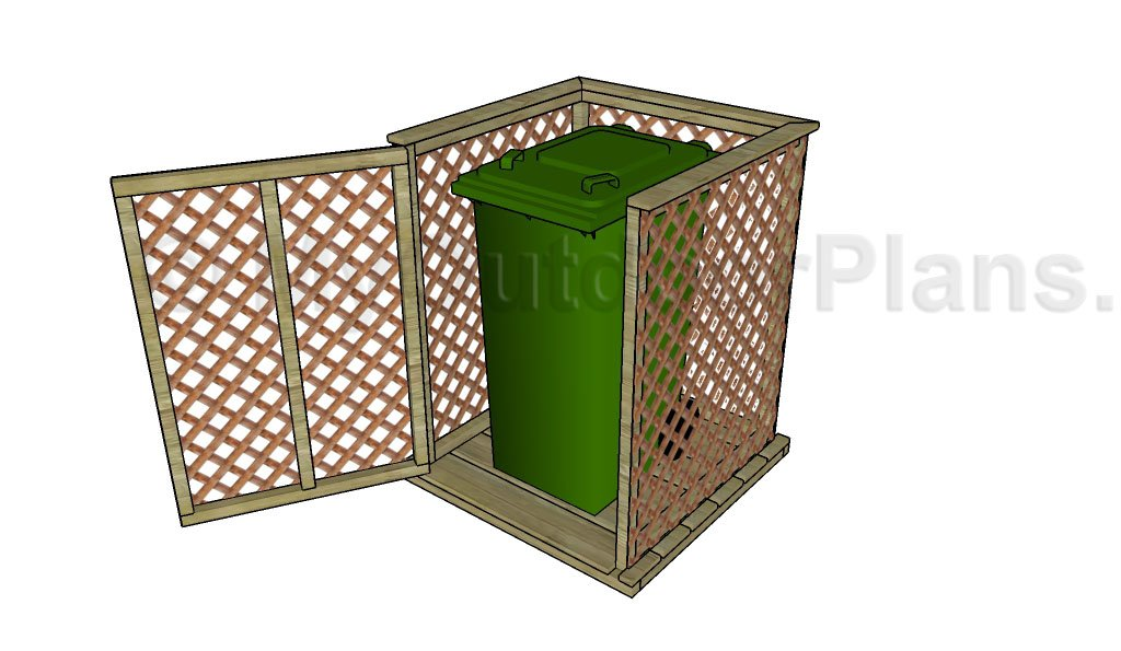 Trash Can Enclosure Plans Myoutdoorplans Free Woodworking