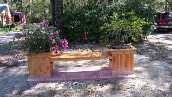 Bench-with-planters
