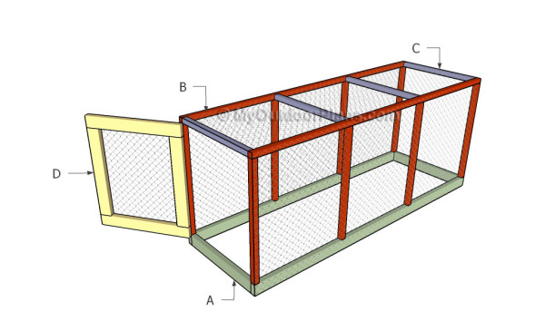 Building a chicken coop run