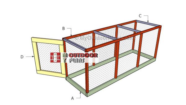 Building-a-chicken-coop-run