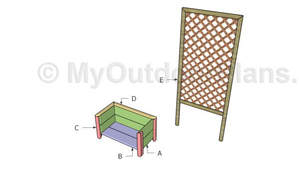 how to build a planter box with trellis myoutdoorplans free