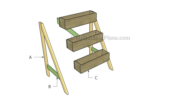 3 tier planter plans myoutdoorplans free woodworking How to build a tiered plant stand