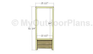 Building the trellis frame