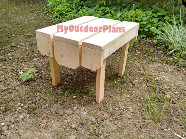 Adirondack table myoutdoorplans free woodworking plans for Adirondack side table plans