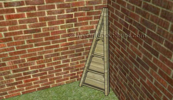 Vertical corner planter plans