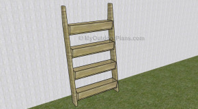 Planter myoutdoorplans free woodworking plans and projects diy shed wooden playhouse - Ladder plant stand plans ...
