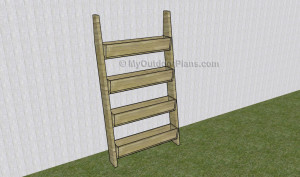 Vertical tiered planter plans