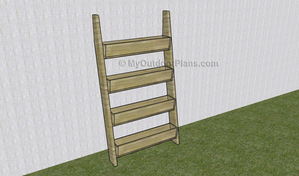 Vertical Tiered Planter Ladder Plans