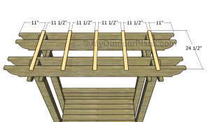 Attaching the top slats
