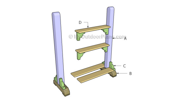Building an outdoor plant stand