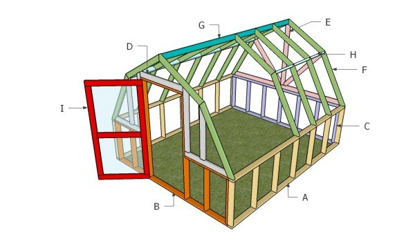 Building a barn greenhouse
