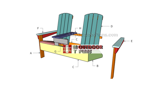 Building-a-double-adirondak-bench-with-table